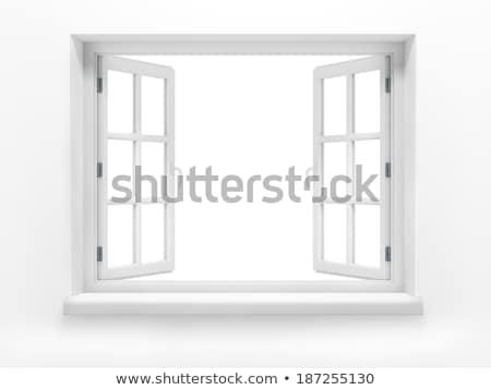 Сток-фото: 3d · визуализации · окна · строительство · свет · домой