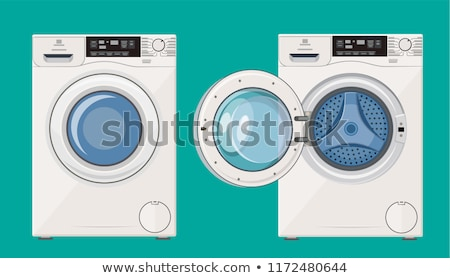 lavadora · panel · de · control · moderna · temporizador · opciones - foto stock © njnightsky