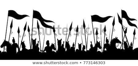 sword silhouettes Stock photo © Slobelix