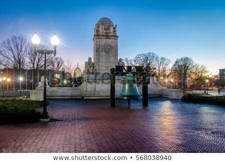 liberty bell replica in front of union station in washington dc stock photo © alex_grichenko