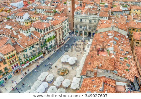 View over Piazza delle Erbe (Market's square), Verona Stock photo © marco_rubino