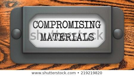 Materiały etykiety napis pliku szuflada Zdjęcia stock © tashatuvango