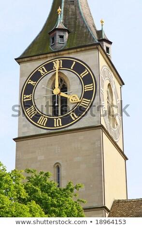 Zürich torony kilátás templom utazás építészet Stock fotó © elxeneize