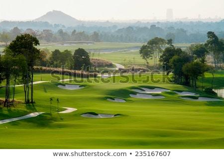 午前 · 右 · ゴルファー · オフ · 早朝 · 光 - ストックフォト © capturelight