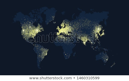 Earth satellite view vector illustration vector for Easy to draw earth