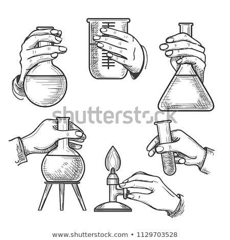 rajz · főzőpohár · klasszikus · stílus · vektor · oktatás - stock fotó © kali