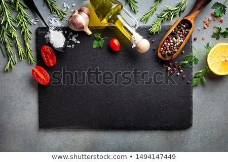 Blank Slate on Kitchen Table Stock photo © stevanovicigor