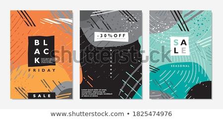 funky · szalag · absztrakt · festék · csillag · kártya - stock fotó © BibiDesign