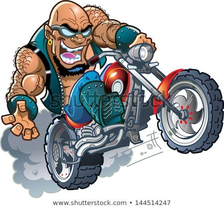 Cartoon difficile uomo mano design Crazy Foto d'archivio © lineartestpilot