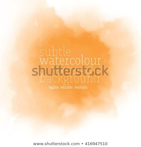 Arancione acquerello spot acqua carta abstract Foto d'archivio © gladiolus