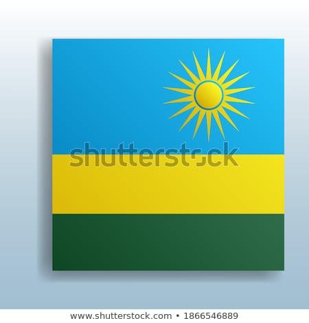 Bouton symbole Rwanda pavillon carte blanche Photo stock © mayboro1964