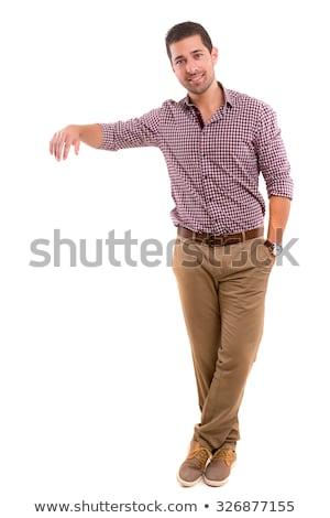 Foto stock: Homem · de · negócios · produto · jovem · homem · trabalhar