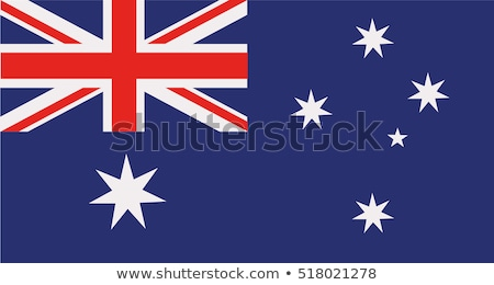 Banderą Australia wykonany ręcznie placu streszczenie Zdjęcia stock © k49red