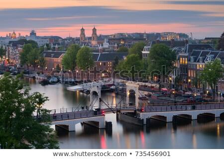 Famous Skinny Bridge, Amsterdam Stock photo © joyr