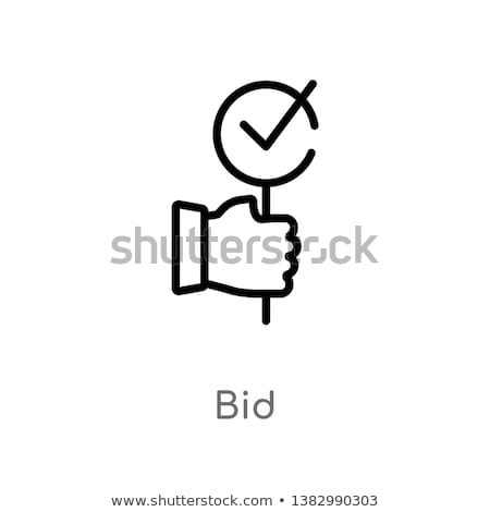 Stock photo: auction icon