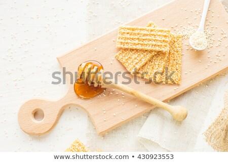 Textúra szezámmag egészséges ropogós ízletes falatozó Stock fotó © ozgur