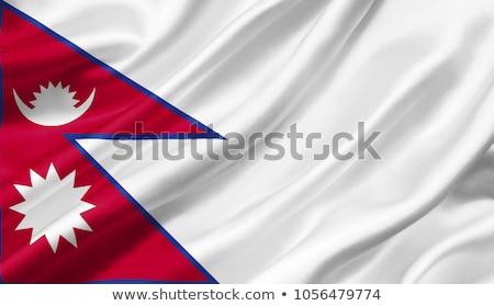 Waving flag of nepal Stock photo © MikhailMishchenko