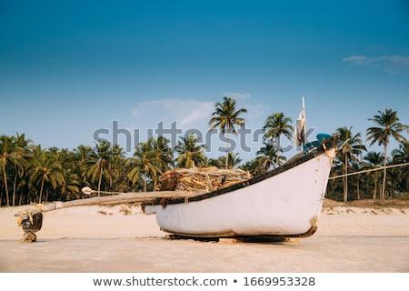 gündoğumu · tekne · plaj · iskele · gökyüzü - stok fotoğraf © mcherevan