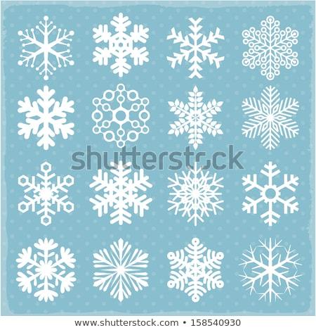 Stock photo: Blue snow flake pattern design