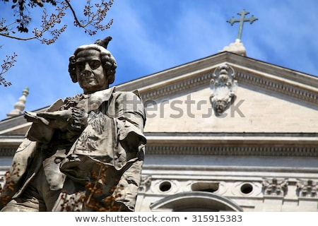 statue pietro metastasio in rome italy stock photo © vladacanon