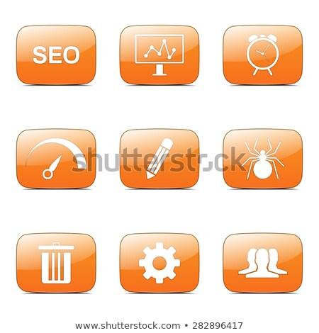 Stockfoto: Seo · internet · teken · vierkante · vector · oranje