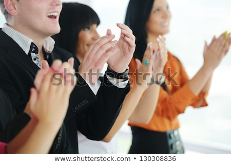 Stock photo: Business people applauding during meeting
