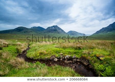 glencoe highland region scotland glencoe or glen coe mountains panoramic view scottish higlands stock photo © julietphotography