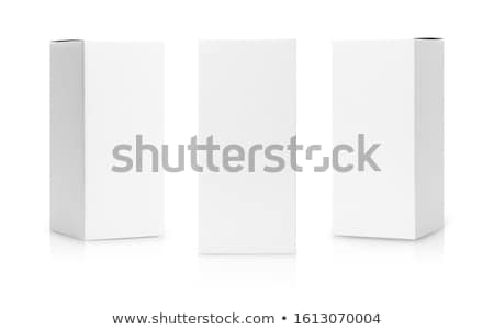 Paperboard box on white Stock photo © vtls