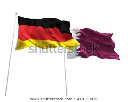 Niemcy Katar flagi puzzle odizolowany biały Zdjęcia stock © Istanbul2009