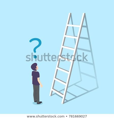 Foto stock: Escalera · pared · éxito · negocios · hasta