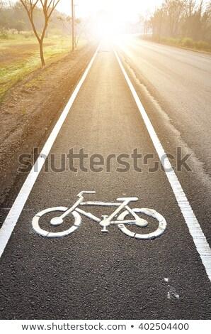 Sign Indicating Cycle Path Stock photo © bezikus