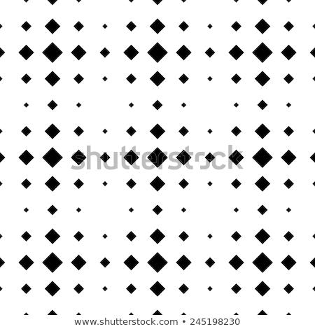 Stockfoto: Shining Diamonds Pattern Isolated On White