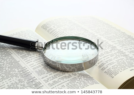Idea word and magnifying glass Stock photo © fuzzbones0