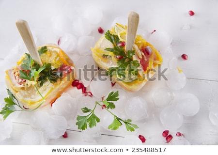 Ijskegel citrus gemengd presentatie granaatappel peterselie Stockfoto © Fotografiche