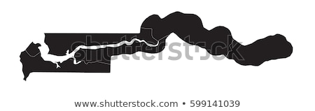 Map of the Gambia Stock photo © rbiedermann