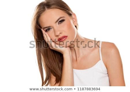 Stock fotó: Nő · fájdalom · portré · vonzó · érett · nő · szabadtér