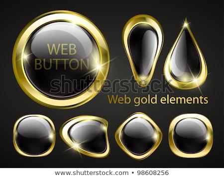 Letöltés arany vektor webes ikon szett gomb Stock fotó © rizwanali3d