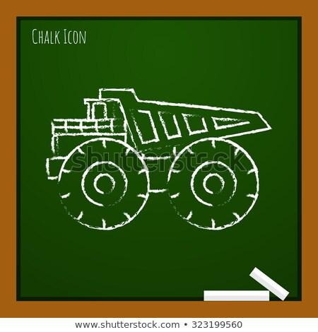 Tractor icon drawn in chalk. Stock photo © RAStudio