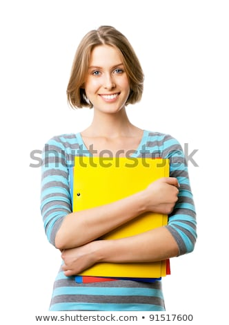 attractive businesswoman pointing her finger Stock photo © dolgachov