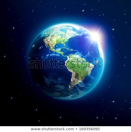 Nap dél-amerika Föld kék izolált fekete Stock fotó © Harlekino