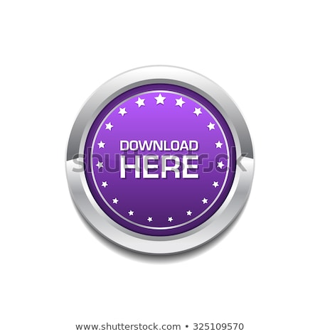 Stock photo: Download Here Purple Circular Vector Button
