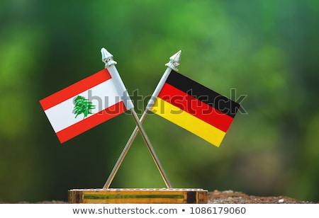 Alemanha Líbano bandeiras quebra-cabeça isolado branco Foto stock © Istanbul2009