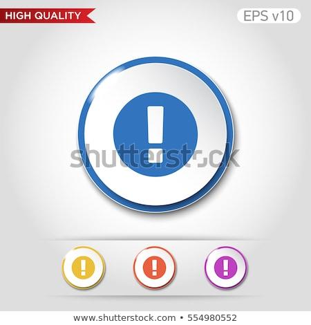 Alertar assinar azul vetor botão ícone Foto stock © rizwanali3d