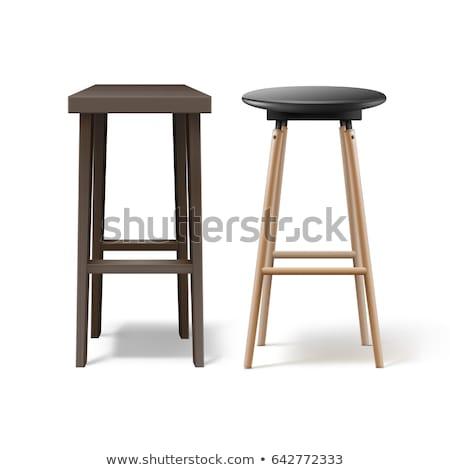 Bar kruk ontwerp model restaurant meubels Stockfoto © Paha_L