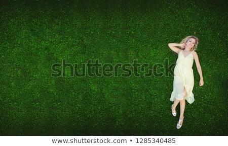 belle · femme · coloré · verger · belle · dame · fleur - photo stock © majdansky
