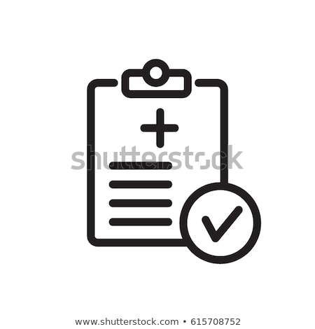 medical report line icon stock photo © rastudio