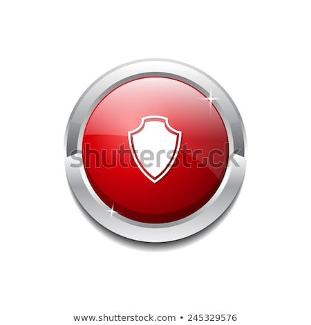 SSL Protection Secure Red Shield Vector Icon Stock photo © rizwanali3d