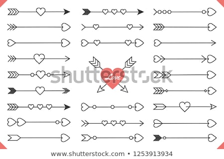 vintage heart with an arrow vector element Stock photo © MaxPainter