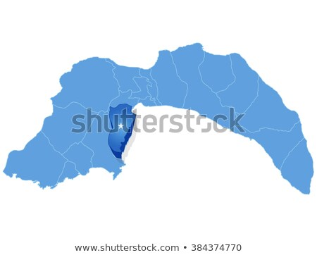 Map of Antalya - Kemer is pulled out Stock photo © Istanbul2009