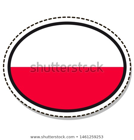 флаг овальный кнопки серебро изолированный белый Сток-фото © Bigalbaloo